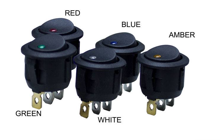 LED Round Rocker Switch