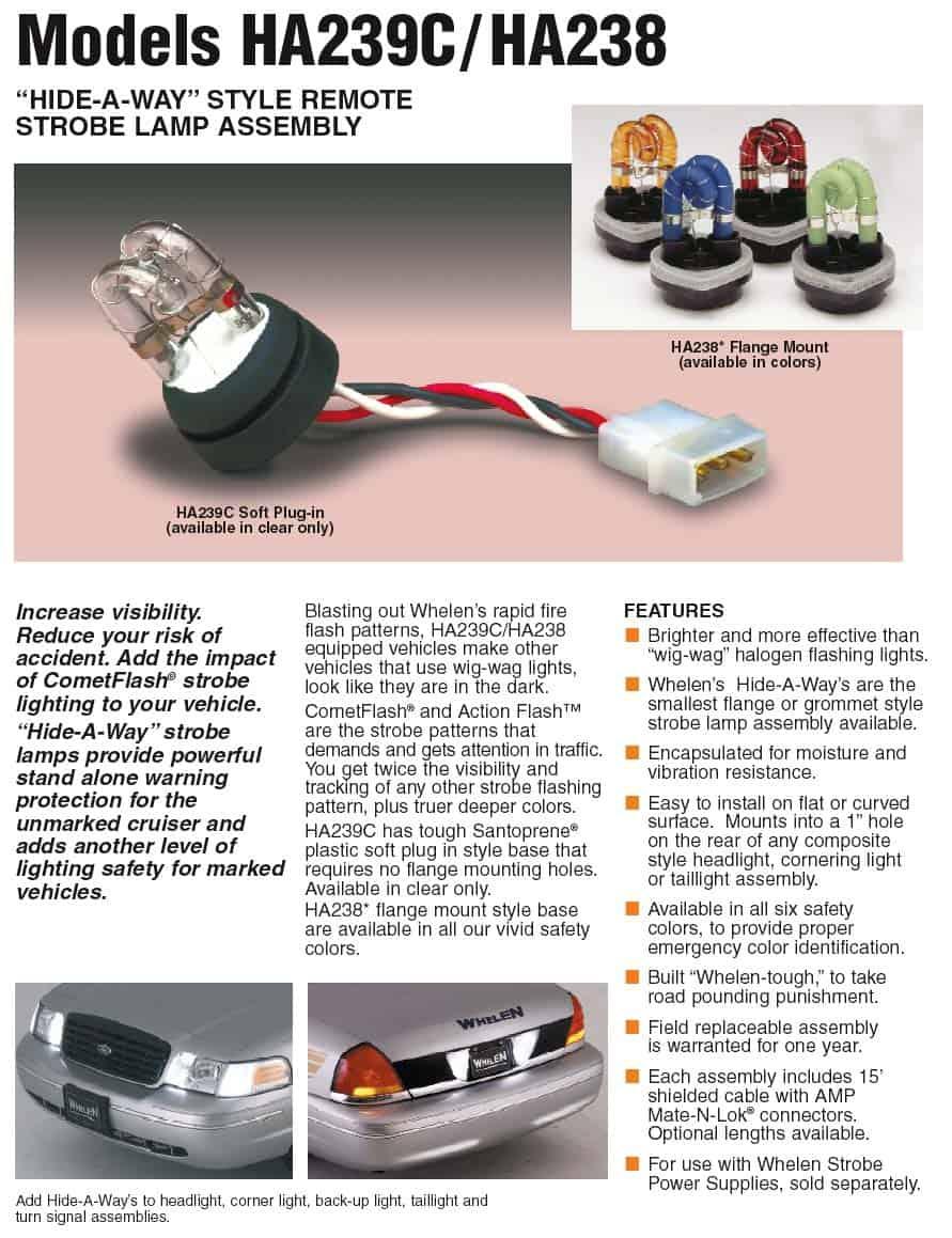Whelen 20 Watt 2 Strobe Kit | Oznium