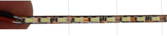 Where to cut Diamond LED strip