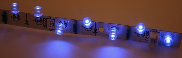 bend leds on flathead led strip
