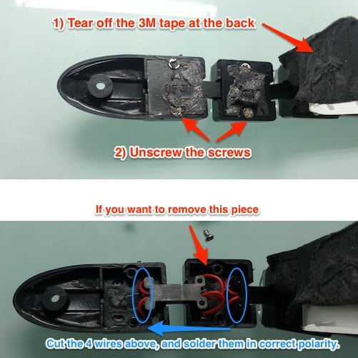 How to cut flexible DRL LED running light
