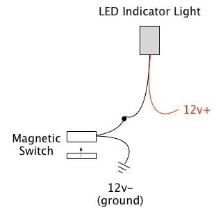 Magnetic switch oznium for 12v magnetic door switch