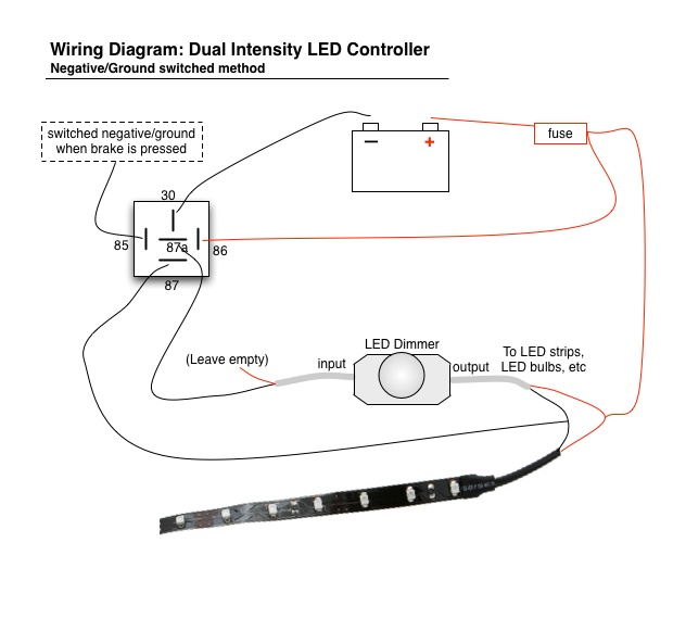 help wiring tail light on motorcycle oznium forums www oznium com images wiring_diagrams led_dimmer led_dimmer_negative jpg