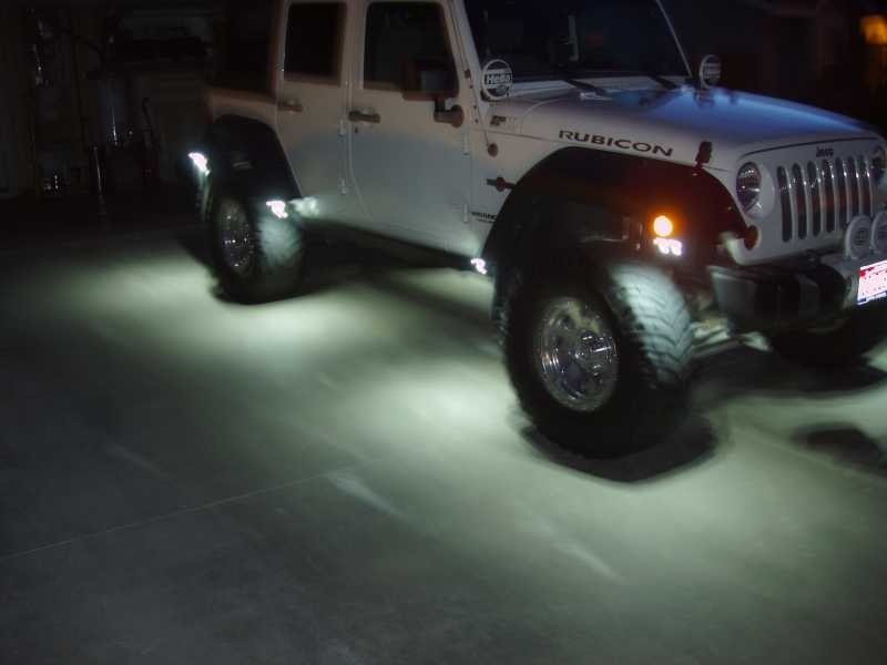 Cheap and easy LED Rock Lights JKForumcom The top