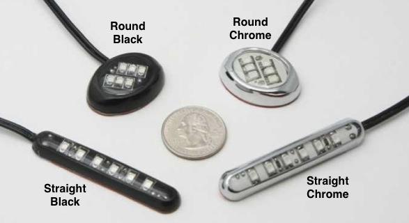 Round Chrome Bike LED Module