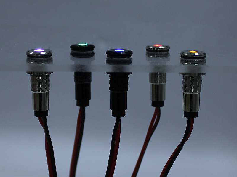 LED Indicator Light Aluminum Panel Mount Oznium