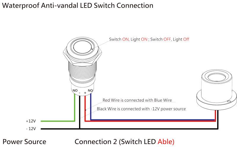 ip68 waterproof anti off switch